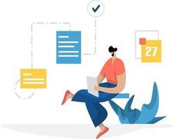 gestion de la gestion de l & # 39; administration vecteur