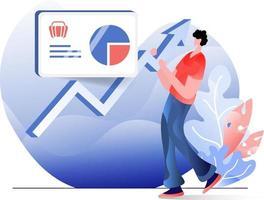 illustration plate de marketing en ligne vecteur