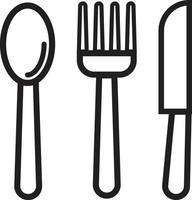 cuillère fourchette et couteau vecteur