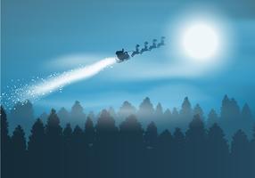 Père Noël dans le ciel vecteur