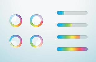 chargement icône barre de progression symbole vecteur dégradé ensemble