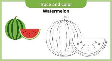 trace et couleur pastèque vecteur