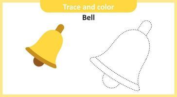 trace et cloche de couleur vecteur