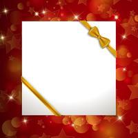 Fond de Noël avec ruban vecteur