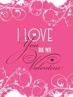 Être mon fond de Valentine vecteur