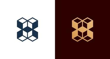 logo abstrait lettre h cube, initiale élégante h avec jeu de construction