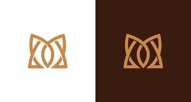 ensemble de logo monogramme lettre m pointu, élégant et de luxe vecteur