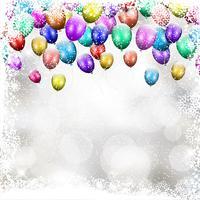 Fond de ballon de Noël vecteur