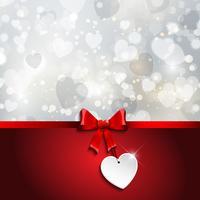 Fond de ruban Saint Valentin vecteur