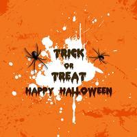 Fond d'araignée grunge Halloween vecteur