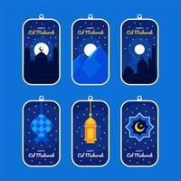 collection d'étiquettes eid mubarak vecteur