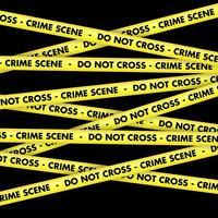 Fond de bande de scène de crime vecteur