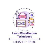 apprendre l'icône de concept de technique de visualisation vecteur