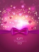 Fond de Saint Valentin avec ruban vecteur