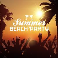 Fond de fête de plage d'été