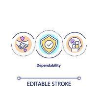 icône de concept de fiabilité vecteur