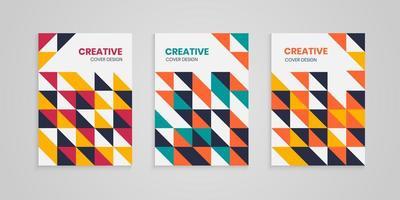 ensemble de couvertures abstraites colorées géométriques vecteur