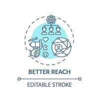 icône de concept de meilleure portée vecteur