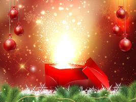 Backgroound cadeau de Noël vecteur