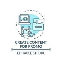 création de contenu pour l'icône de concept promo vecteur