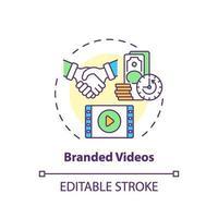 icône de concept de vidéos de marque vecteur