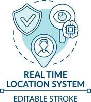 icône de concept de système de localisation en temps réel vecteur
