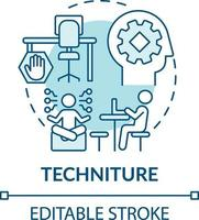 icône de concept technique vecteur