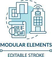 icône de concept d & # 39; éléments modulaires vecteur