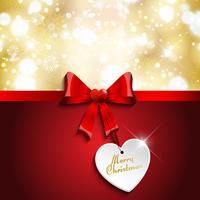 Joyeux Noël étiquette fond vecteur