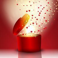 Coffret cadeau en forme de coeur