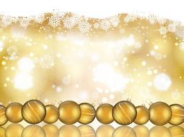 Fond de boule de Noël vecteur