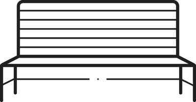 icône de la ligne pour banc en métal vecteur