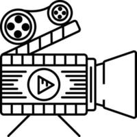 icône de ligne pour les longs métrages vecteur