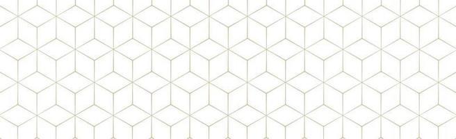 hexagones dorés sur fond blanc - vecteur