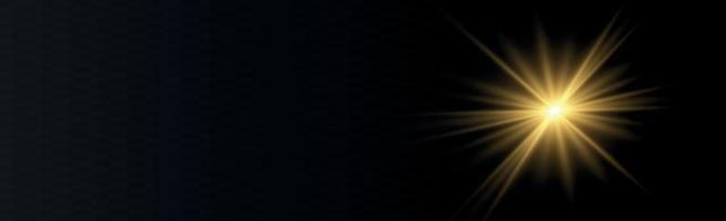 soleil de fond panoramique sur fond noir - illustration vecteur