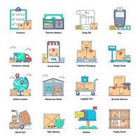 services de livraison et de logistique vecteur