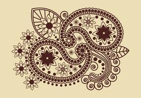 Vecteur de l'art indien au henné