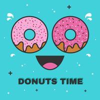 vecteur de temps donuts