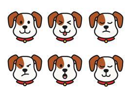 Émotions de chien vecteur