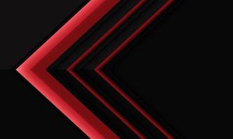 direction de la flèche rouge abstraite sur l'ombre métallique noire avec illustration vectorielle de conception d'espace vide fond futuriste moderne. vecteur