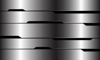 Abstrait argent ligne noire circuit cyber conception géométrique luxe moderne technologie futuriste fond illustration vectorielle. vecteur