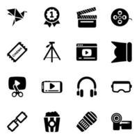 multimédia et cinématographie vecteur