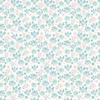 joli motif floral. jolies fleurs de printemps sur fond blanc. impression avec de petites fleurs d'été roses, violettes, bleues. impression ditsy. texture vectorielle continue. modèle élégant pour les imprimantes à la mode. vecteur