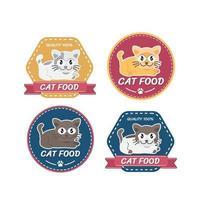 Création de logo d'animalerie, animaux de compagnie chats animaux domestiques vecteur