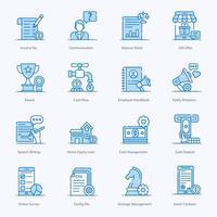 jeu d'icônes de services de merchandising moderne vecteur