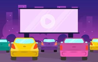 conduire dans le concept de film vecteur