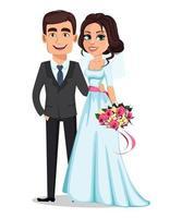 couple de mariage. concept de mariage. vecteur