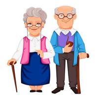 jour des grands-parents. grand-père et grand-mère vecteur