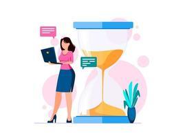 concept de gestion du temps. vecteur