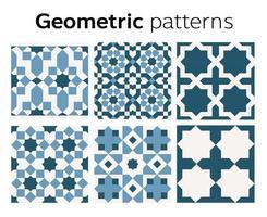 conception de motifs géométriques en illustration vectorielle vecteur